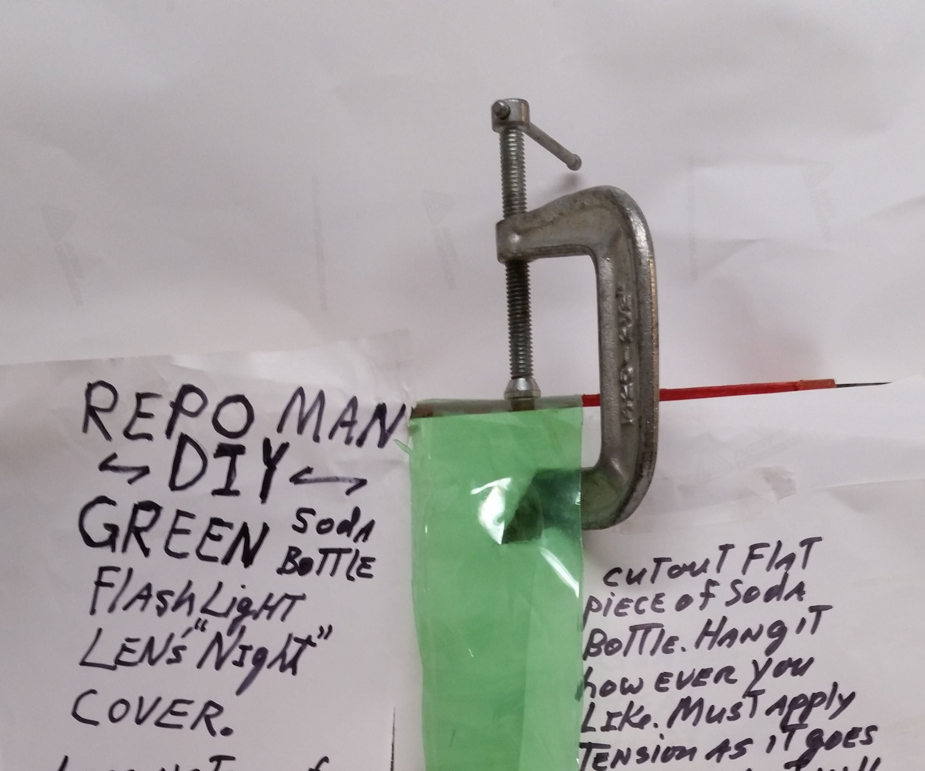 Repo Man DIY Night Green Lens Shade