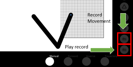 Manual, Trajectory and Learning Mode
