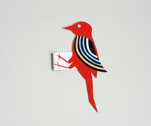 Papercraft Woodpecker Toy !