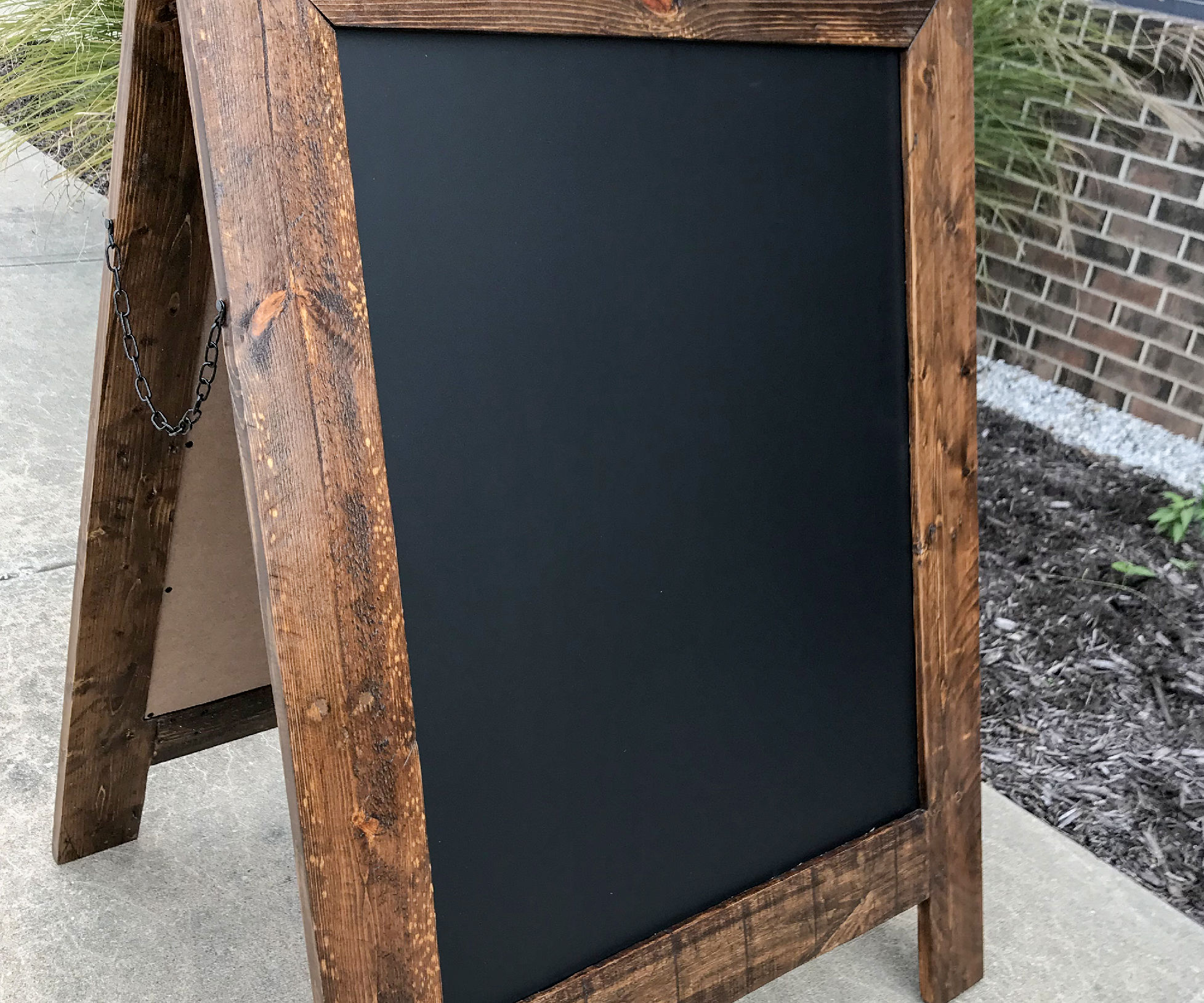 Reclaimed Pallet Wood Sandwich Board
