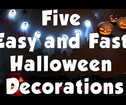 Five Easy and Fast Halloween Decorations