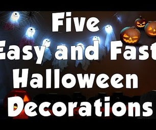 Five Easy and Fast Halloween Decorations Using Common Items