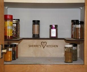 Simple Laser Cut Spice Shelf