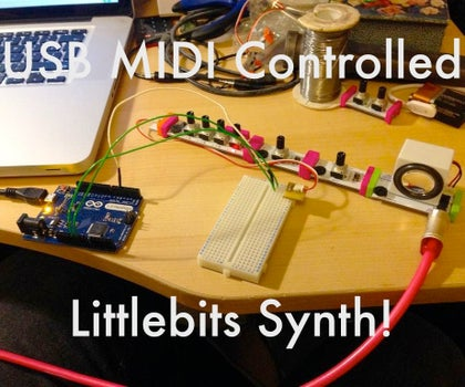 USB MIDI Littlebits Synth!