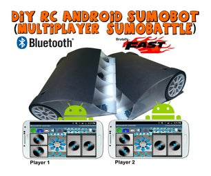 DIY RC Android Sumobot (Sumo Robot)