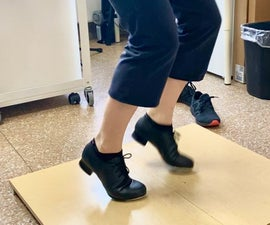 Tap Dance Floor From Shelves, Scrap Wood, Foam