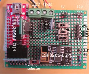 Development Board for ESP8266-ESP01