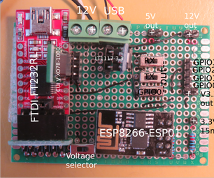 Development Board for ESP8266-ESP01