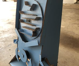 Cardboard Arcade-style Marble Dropper