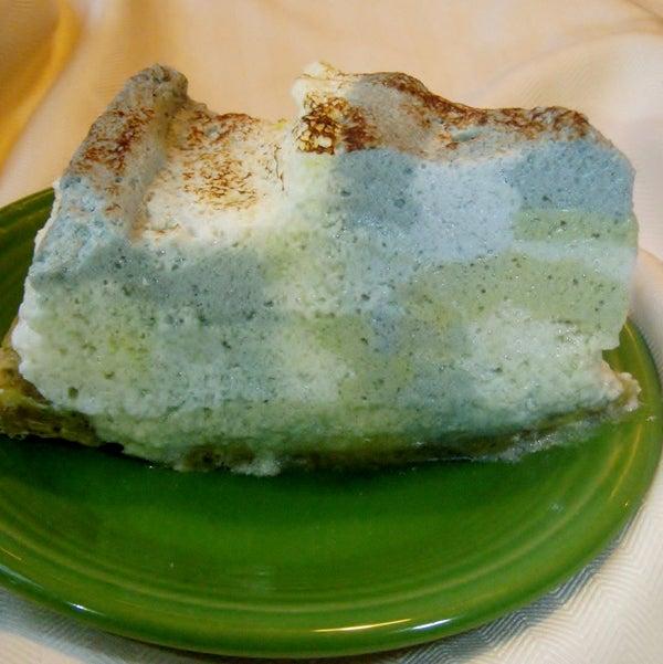 """""""Pi Landscape"""" Tea-dyed Lemon Meringue Pie"""