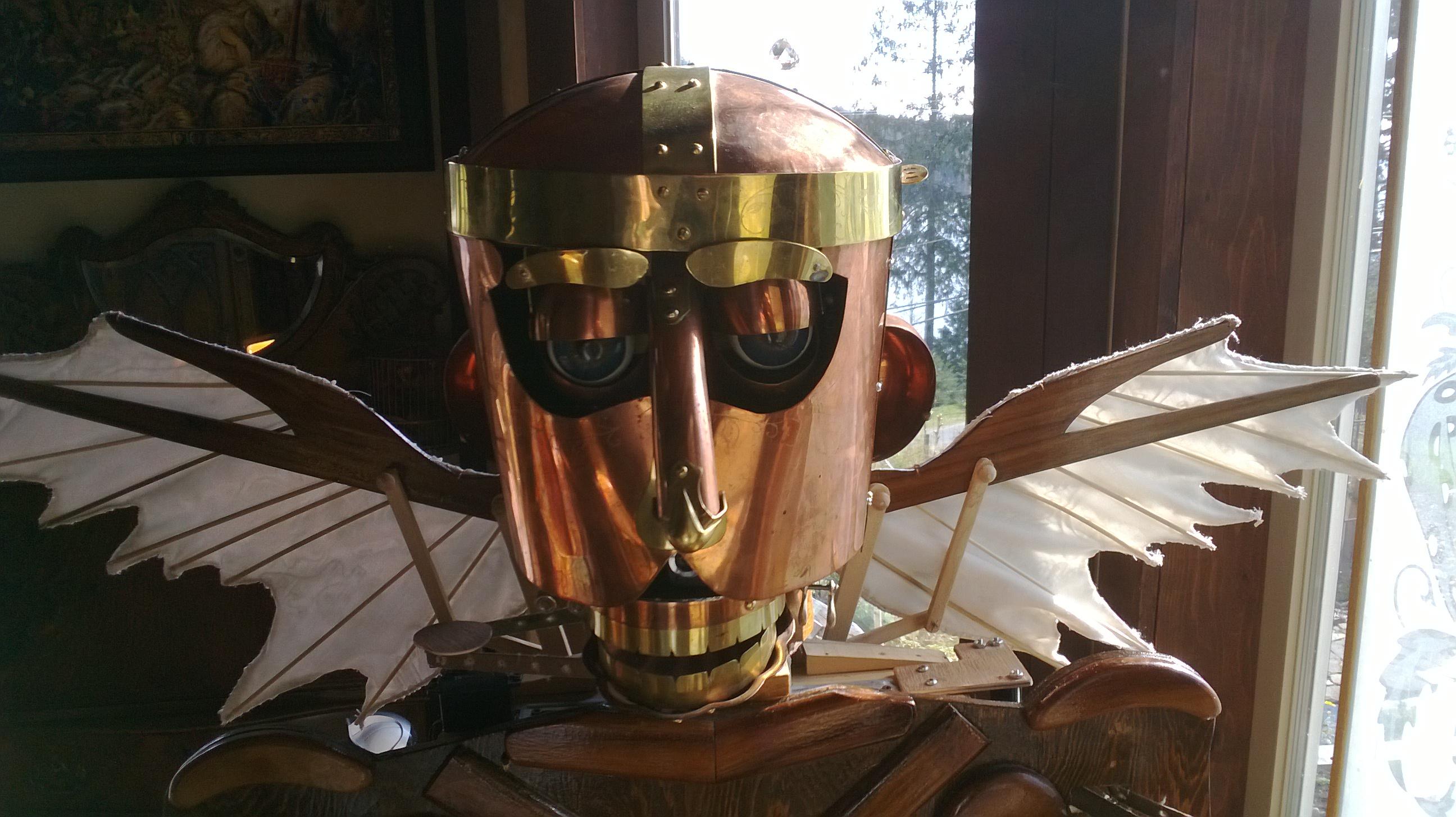 Steampunk style demi-droid EZ-Robot controlled