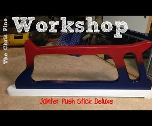 How to Make a Jointer Push Stick Delux.