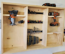Custom Tool Wall Organizer | Router and Drill Station