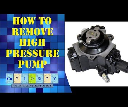 How to remove Diesel high pressure pump