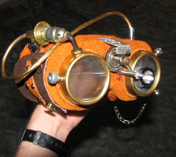 Steampunk Safety Lab Goggles