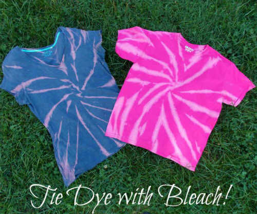 Tie Dyeing with Bleach!