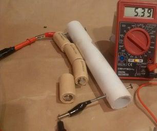 PVC Pipe Battery Holder