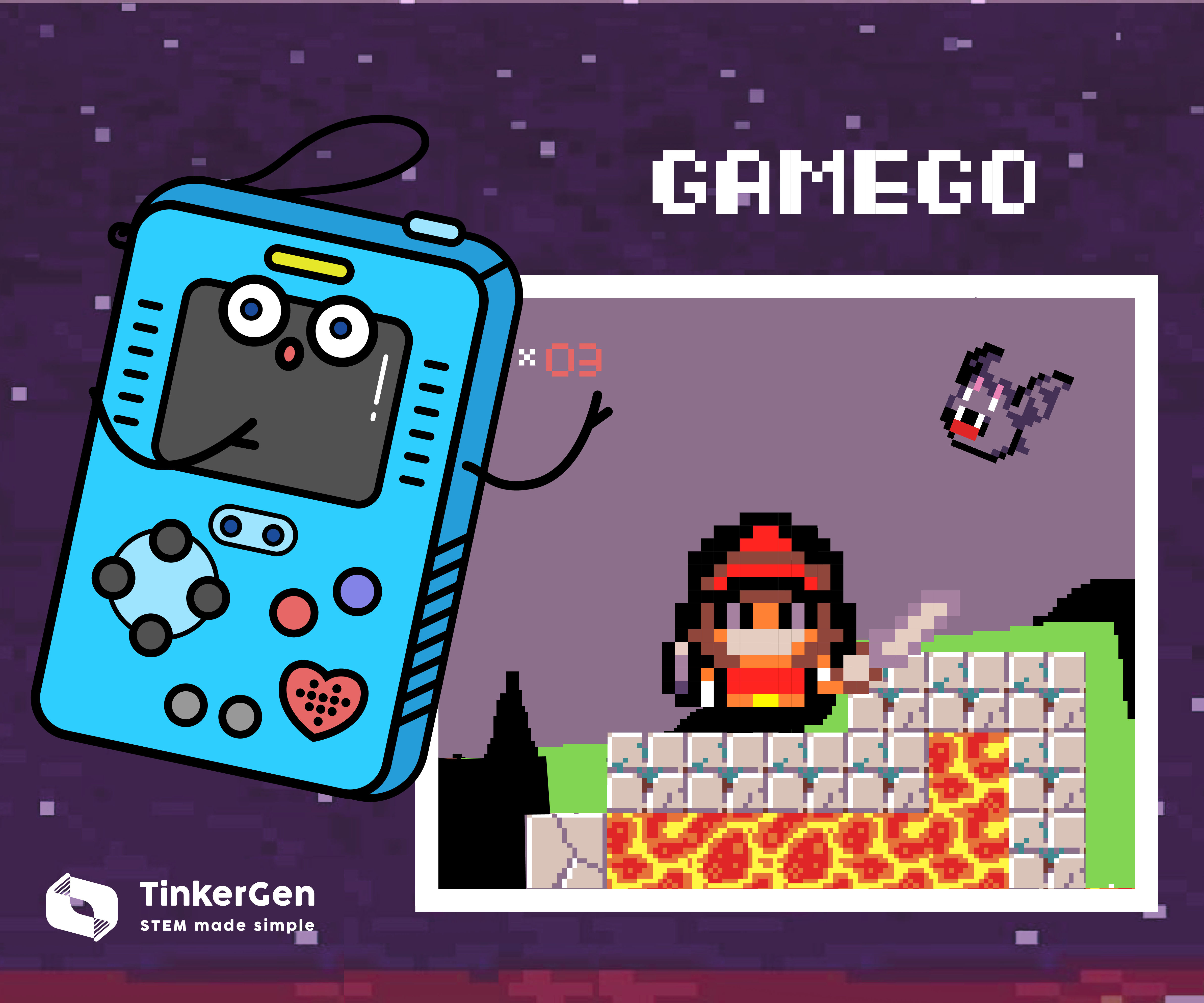 Platformer With Infinite Levels on GameGo With Makecode Arcade