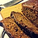 Cinnamon bread with dried cranberries (zucchini pie)