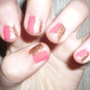 Pink And Brown Nails
