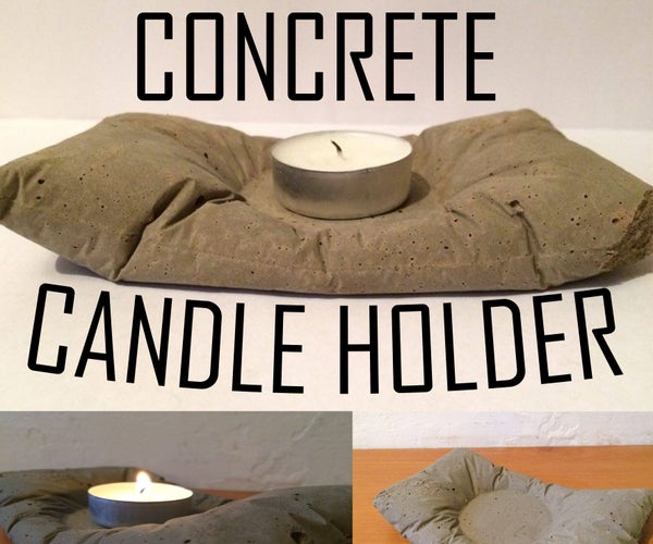 Pillow Concrete Candle Holder