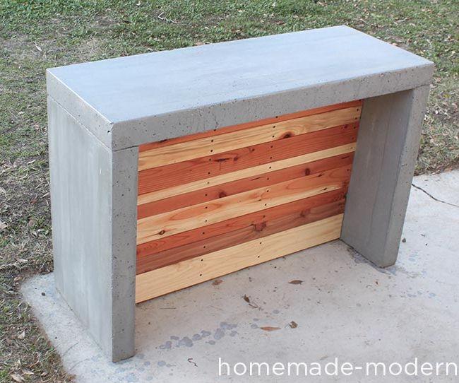 HomeMade Modern DIY Concrete Bar