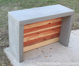 HomeMade Modern DIY Concrete Bar