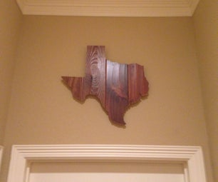 Wooden Texas Wall Decoration