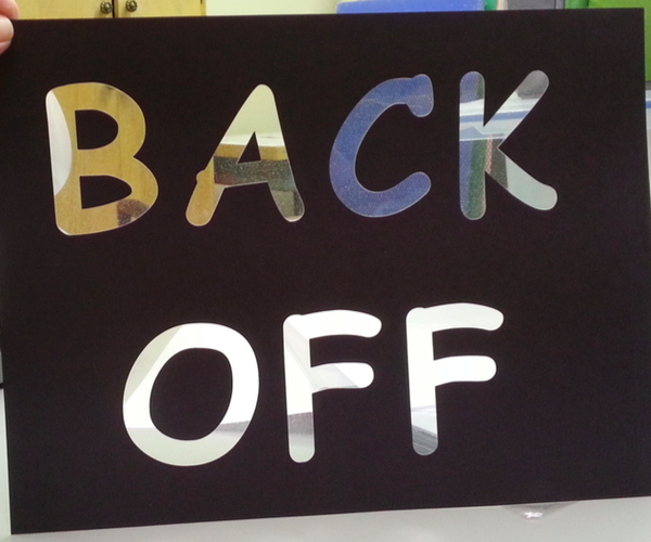 Make a Striking See-through Sign With the Silhouette Portrait Cutter!