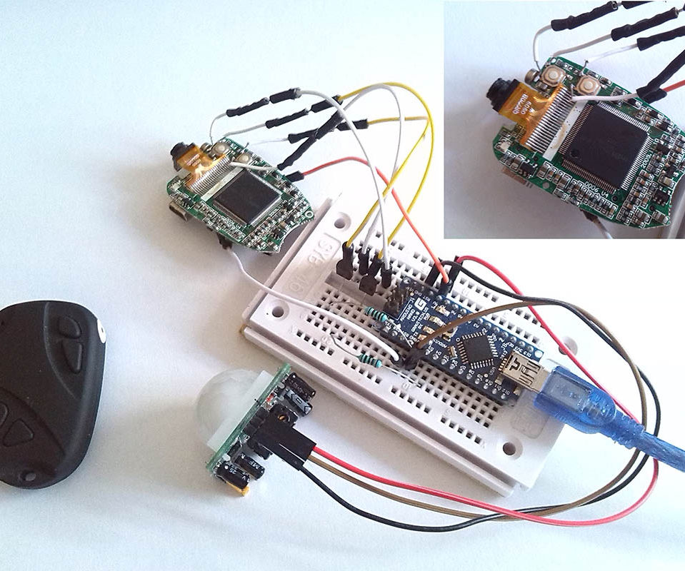 Arduino keychain camera modify to motion detect camera