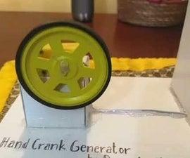 Hand Crank Generator School Science Project