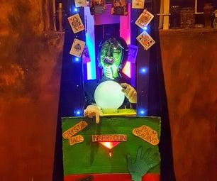 Mechanical Clairvoyant Halloween Prop