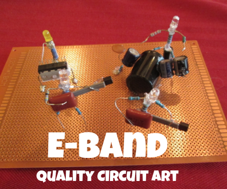 The E Band - Art Made From Scrap Electronics Parts