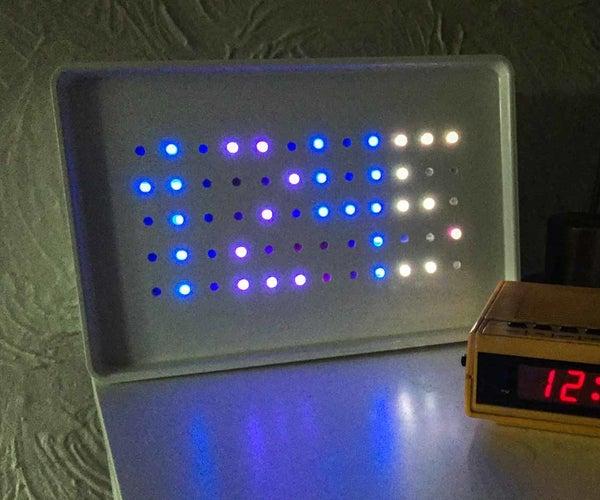 Arduino Powered Sunrise Alarm Clock With Neopixels