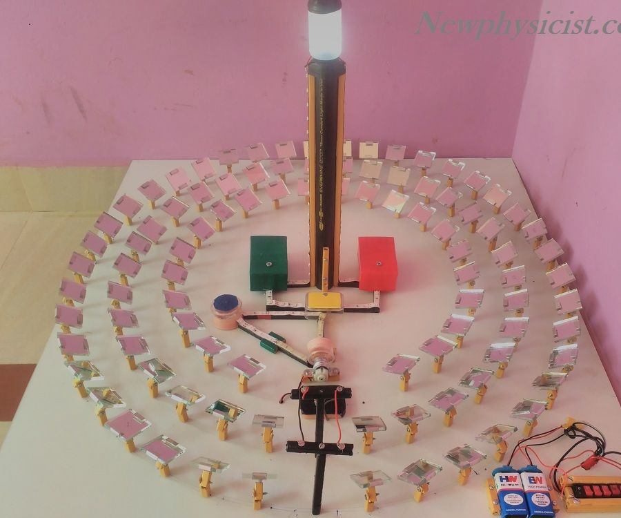 Make Mini Concentrating Solar Thermal Power Plant to Explain Working