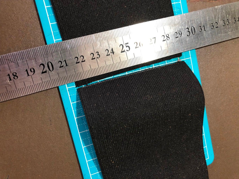 Measure, Mark, Cut, Singe and Trim Elastic Band