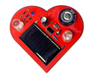 BEAM Solar Powered Pummer (Heart Shaped PCB)