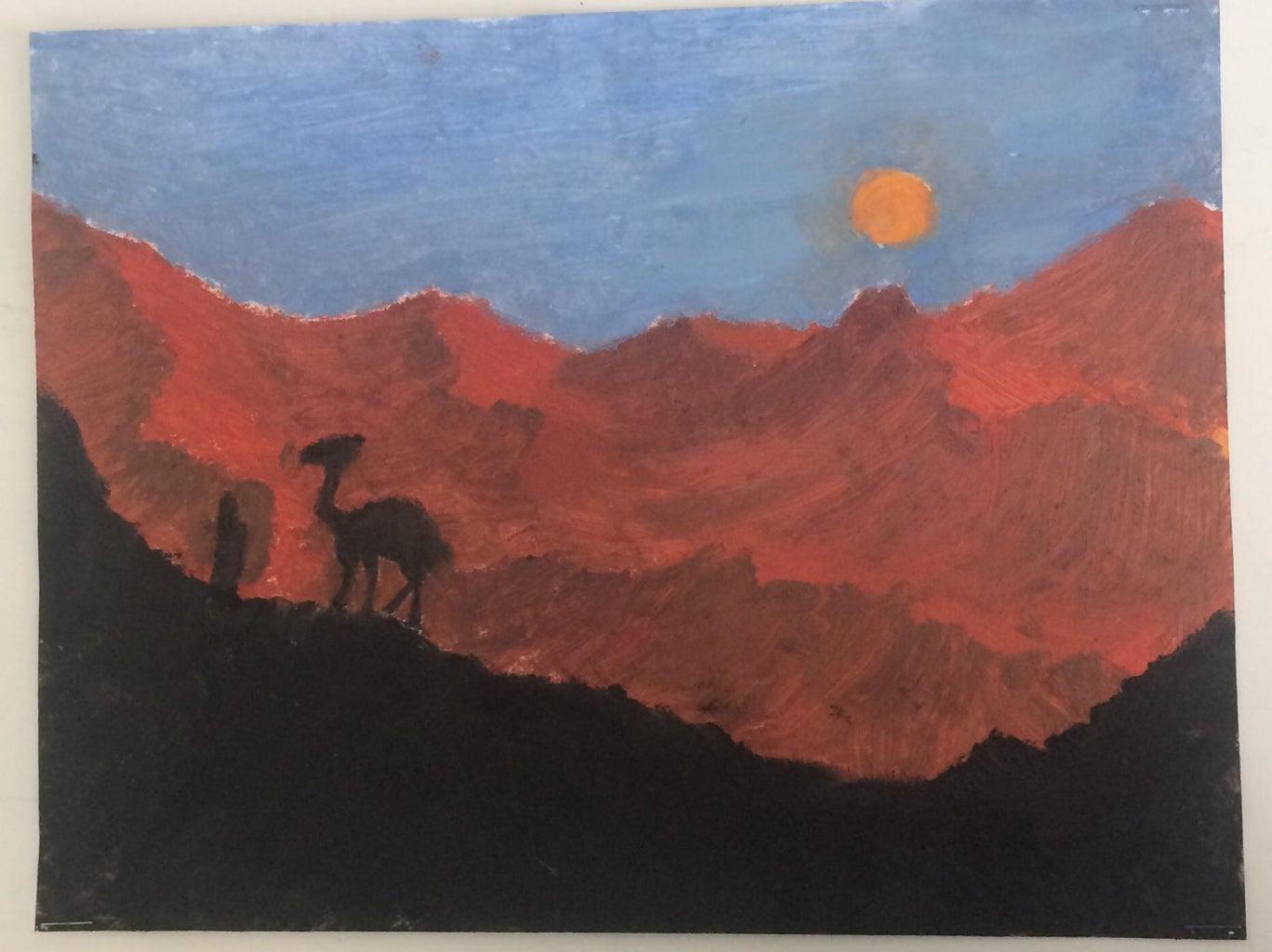 Red Desert Painting