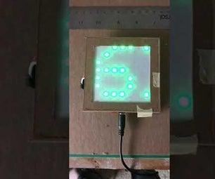 手持Arduino LED矩阵温度计