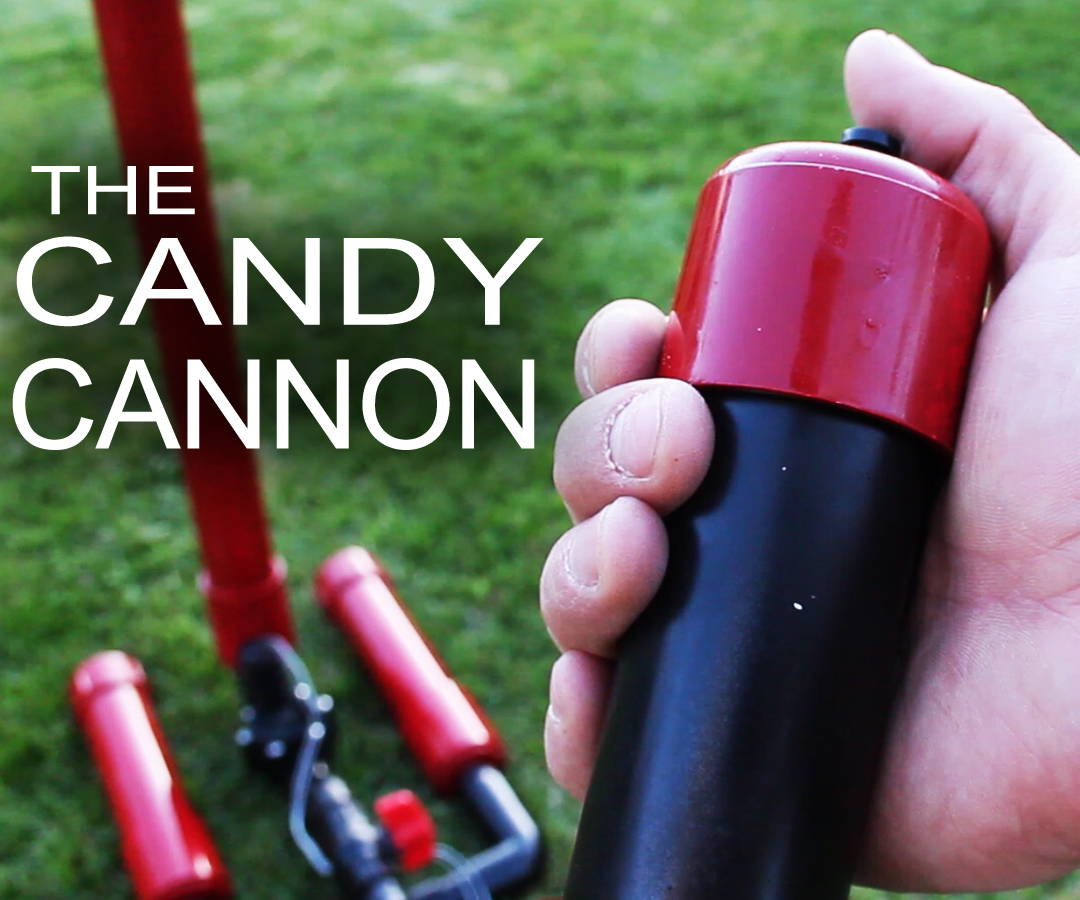 Make It Rain Down Chocolate! For Real!  Here's How to Make Your Own Pneumatic Candy Cannon!