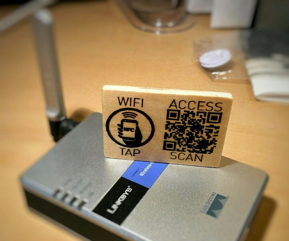 Laser Engraved QR & NFC WiFi Access Card
