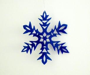 激光切割有机玻璃雪花