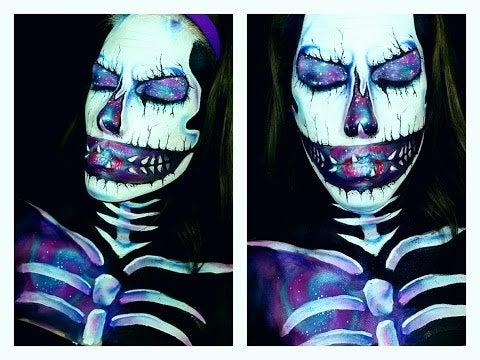 Galaxy Skull Body Paint
