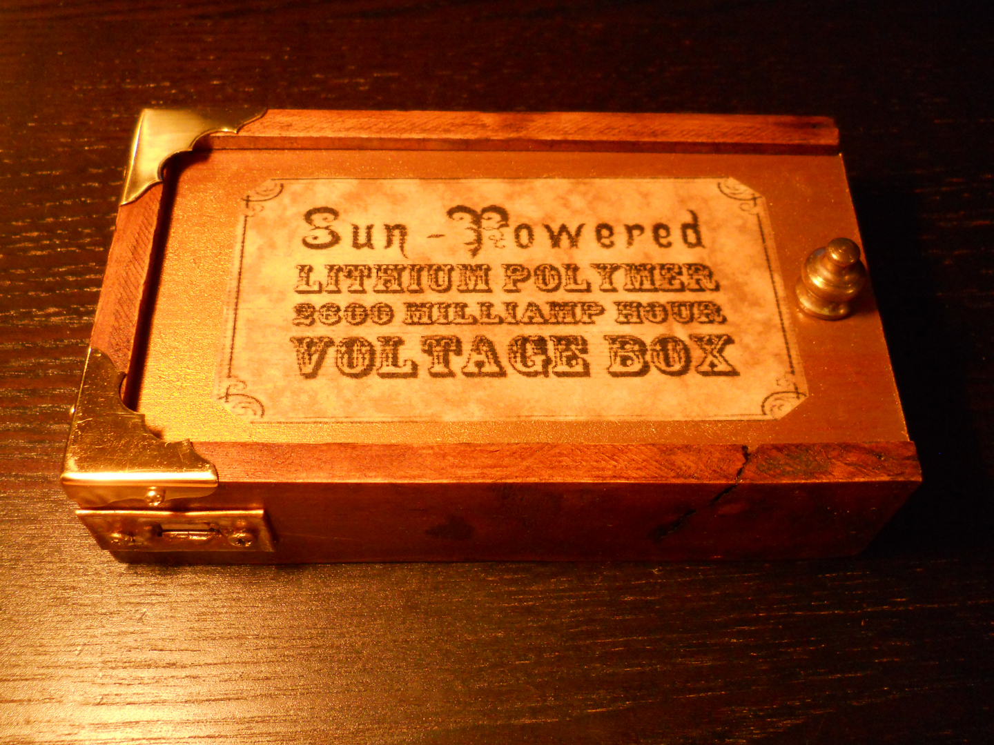 Steampunk solar USB charger