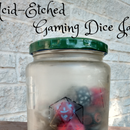 Acid-Etched RPG Gaming Dice Jar