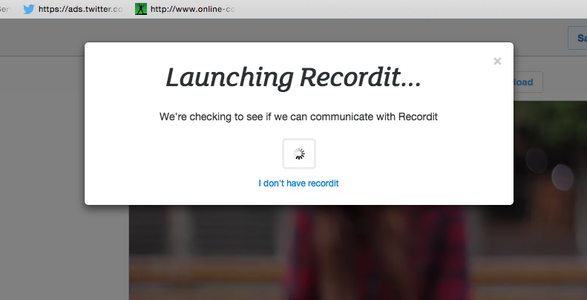 """Click """"Record Your Screen"""""""