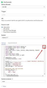 Google Cloud Functions - Inline Editor: