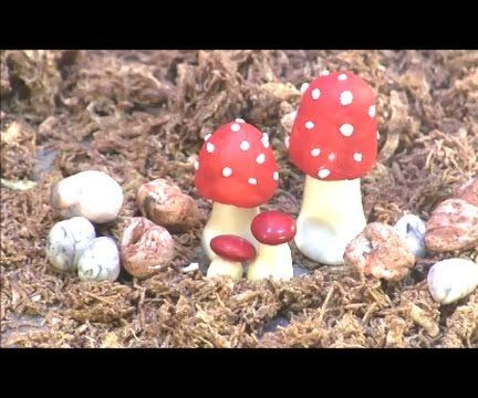 Fondant Toadstools and Marbleized Stone Tutorial