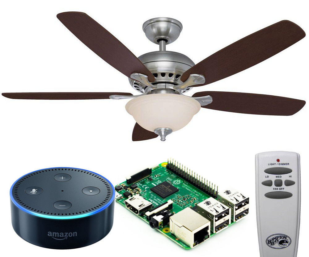 Control Ceiling Fan With an Echo Using a Raspberry Pi and Remote