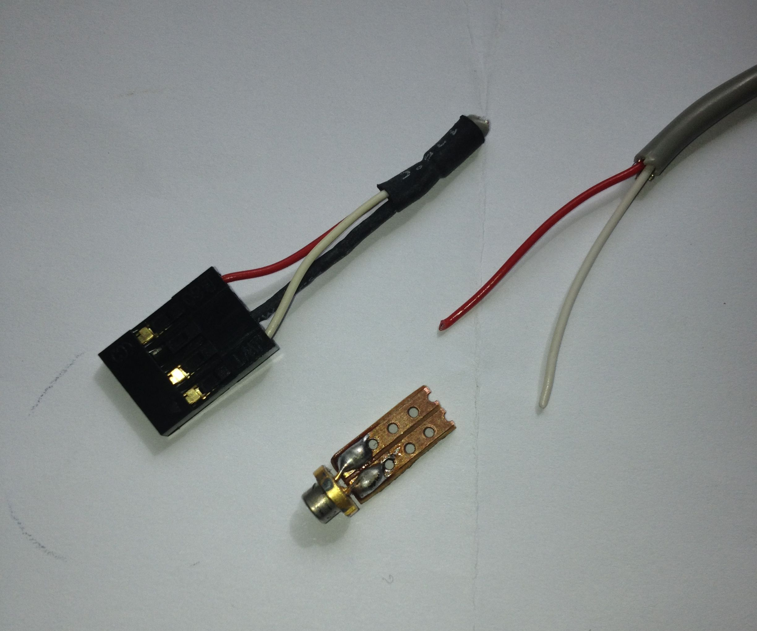 Easy Way To Solder Wires To DVD Laser Diode.